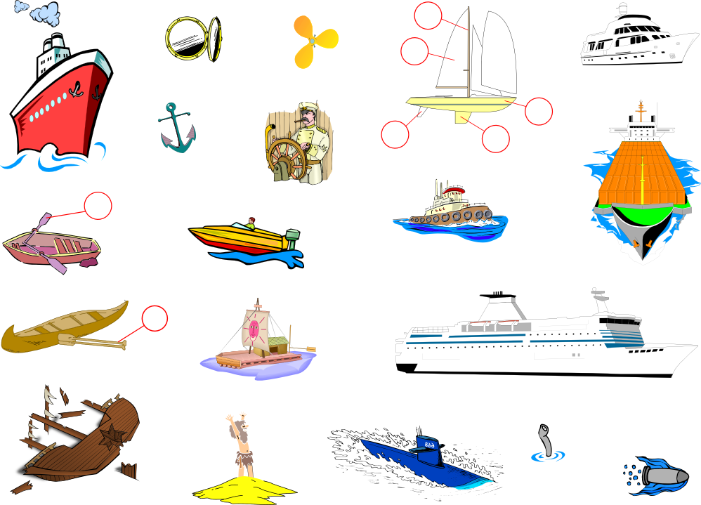 Markers clipart iwb. Sea travel english vocabulary