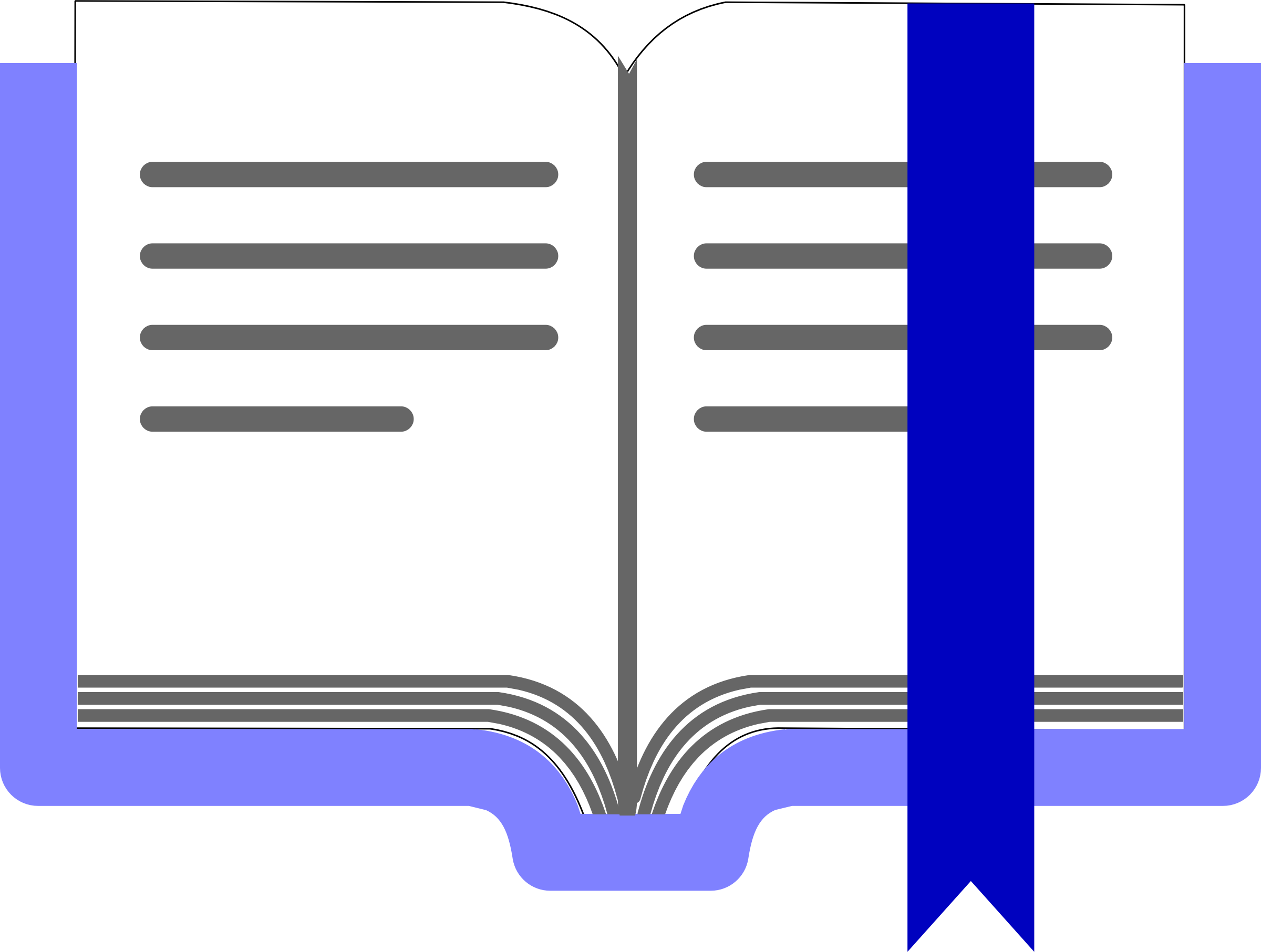 Open book with icons. Marker clipart marker border