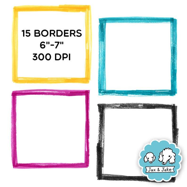 Clip art sketchy square. Marker clipart marker border