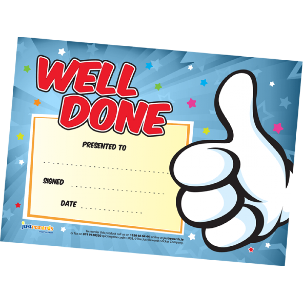 Well done certificates . Markers clipart mini whiteboard
