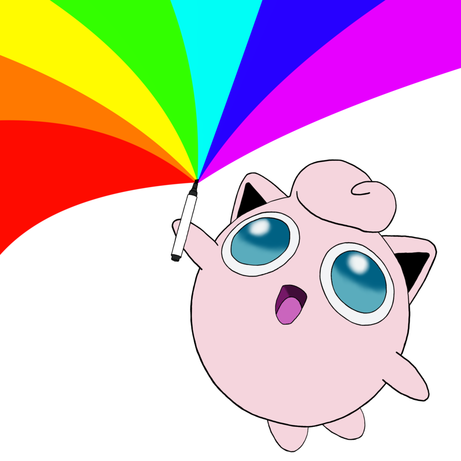 Markers clipart pink highlighter. Jigglypuff has a permanent