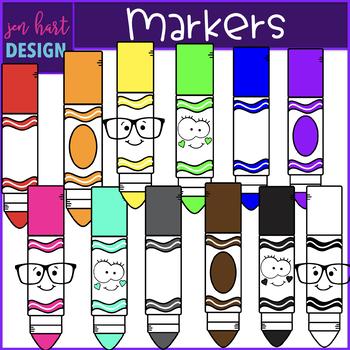 Clip art supplies jen. Markers clipart school