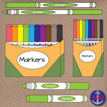 Markers clipart crayon. Back to school clip