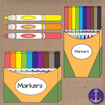 Markers clipart school. Back to clip art