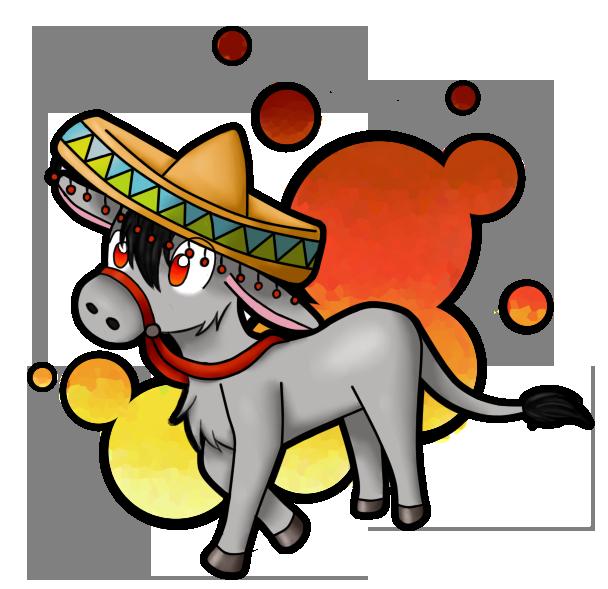 Sombrero donkey by mangoicecream. Markers clipart scribble