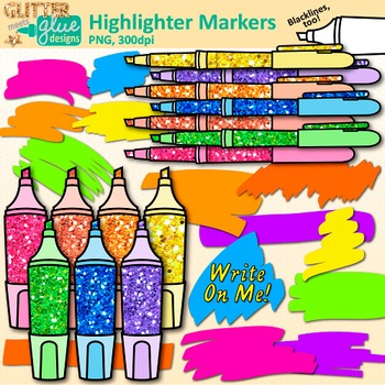 Markers clipart suply. Highlighter marker clip art
