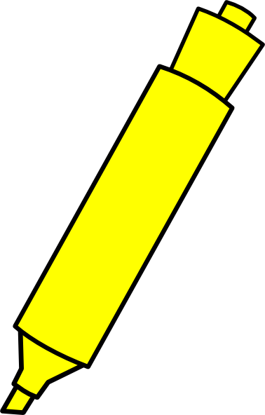 Yellow marker clip art. Markers clipart highlighter