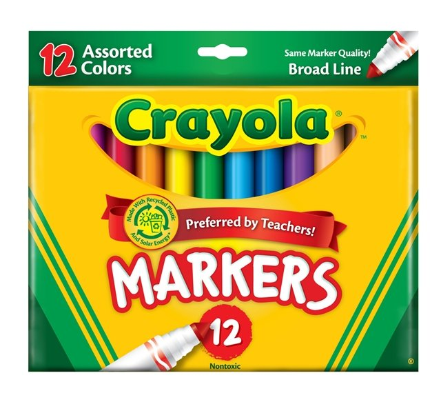 Markers clipart. Crayola starts recycling program