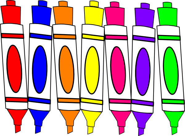 Markers clipart. Beautifulelegance