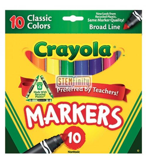 Crayola broad line colors. Markers clipart broadline