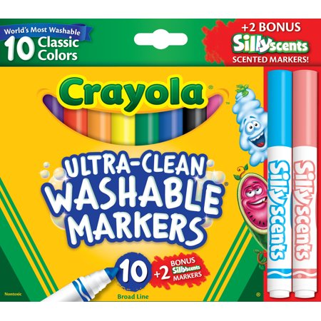 Markers clipart broadline. Crayola count ultra clean