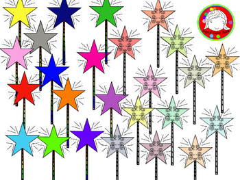 Markers clipart magic. Wands personal commercial use