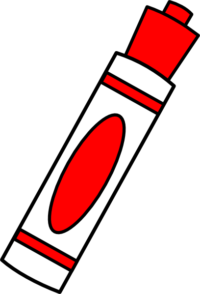 Clip art at clker. Markers clipart red marker