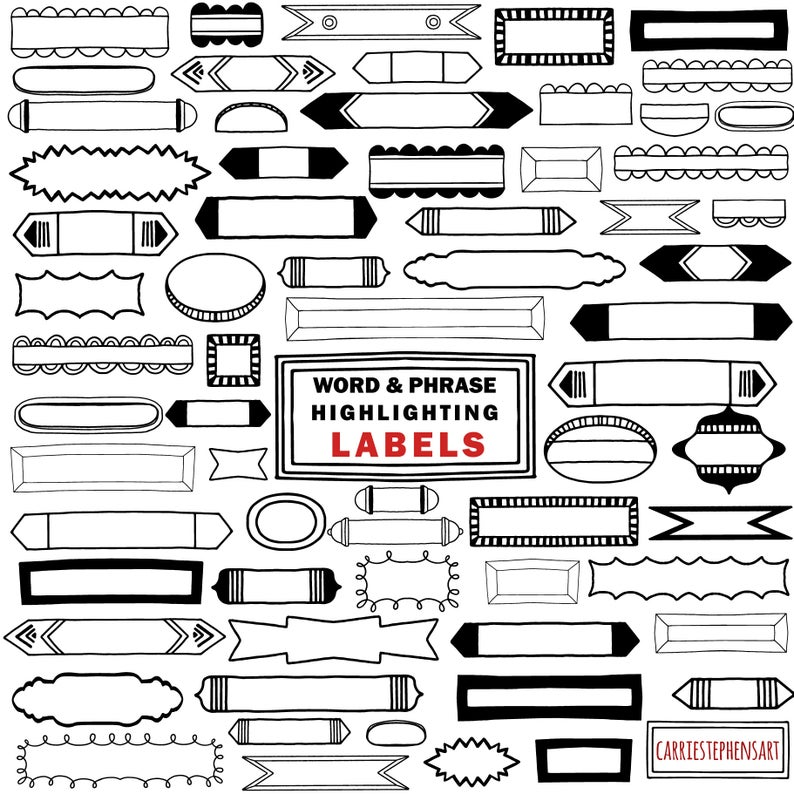 Markers clipart skinny. Frame clip art word