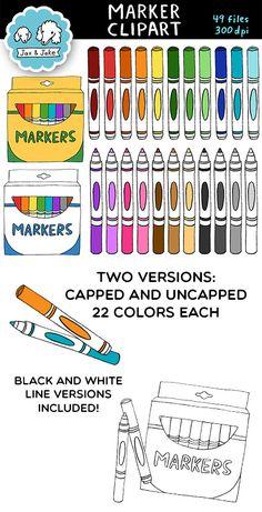 Markers clipart suply. Clip art scissors colors