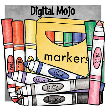 Markers . Marker clipart box marker