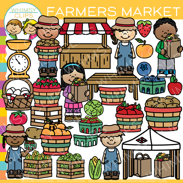 Kids farmer market clip. Farmers clipart