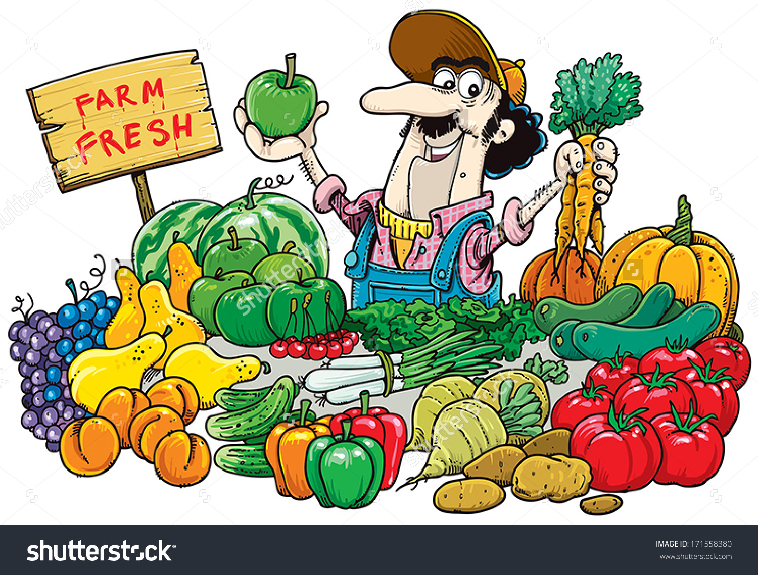 Market clipart. Cart farmers free on