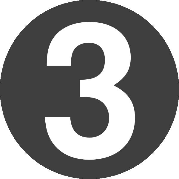 number 3 clipart design