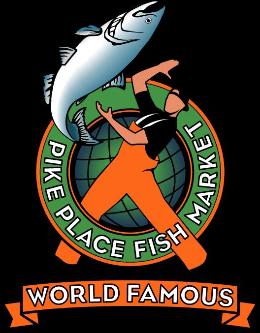 Market clipart fishmonger. Pike place fish logo