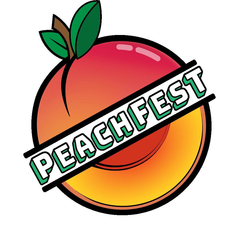 Peachfest cart . Peach clipart georgia peach