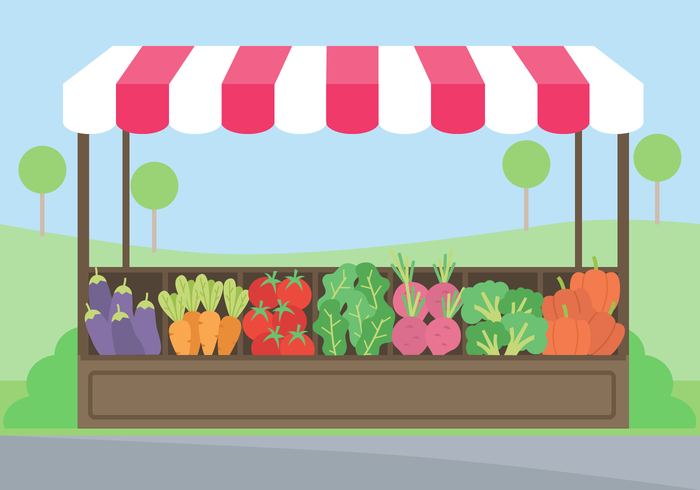 Market clipart fruitstand. Vegetable great free silhouette