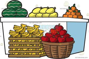 Market clipart fruitstand. A fruit stand