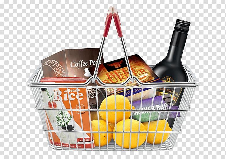 Market consumer price index. Raffle clipart basket goods