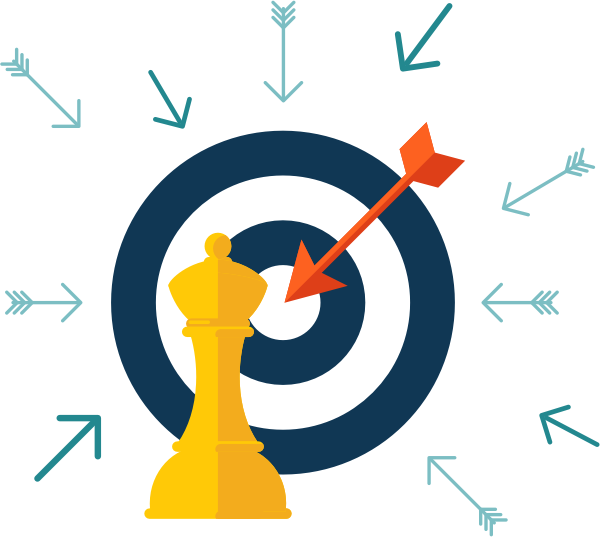 Ppc seo integrated strategy. Marketing clipart customer target