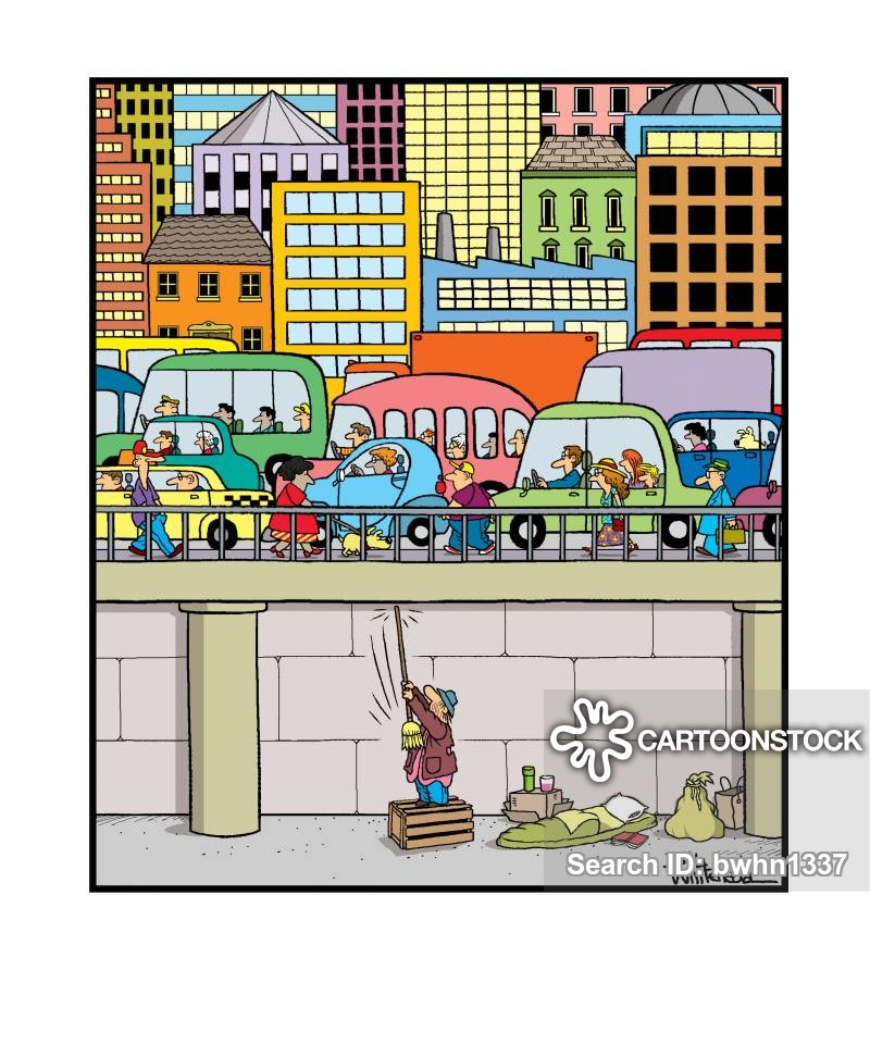 Pollution cartoons and comics. Neighbors clipart traffic noise