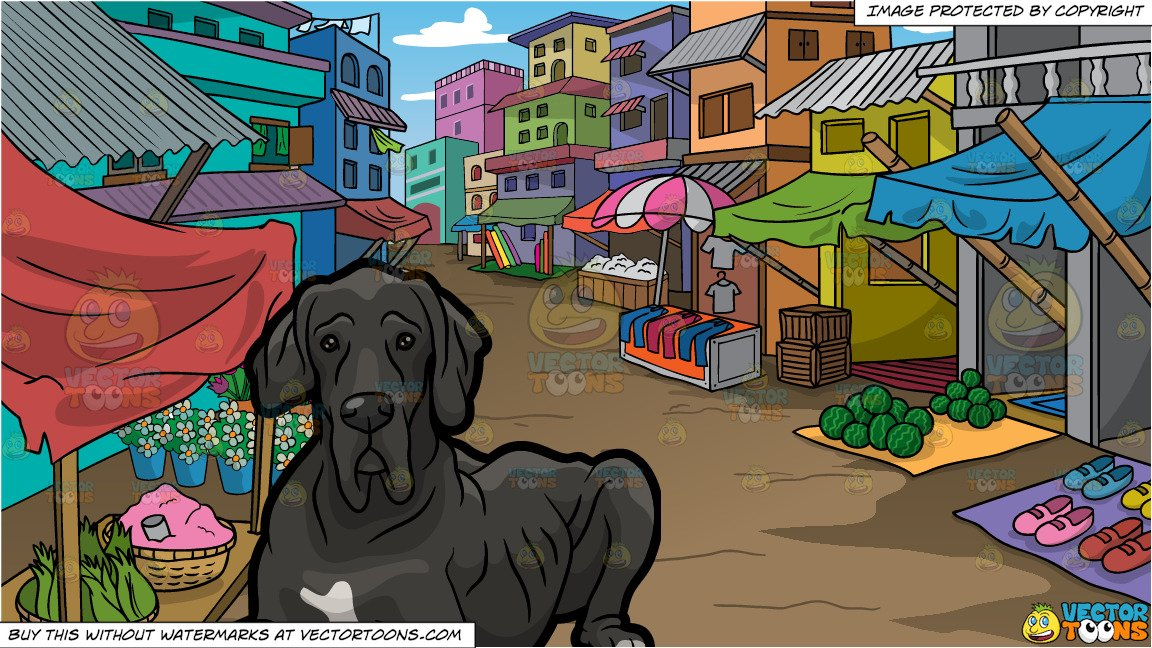 Market clipart old market. An great dane and