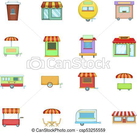 Portal . Market clipart street market