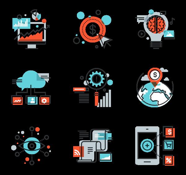 Market clipart vector. Marketing icons free digital