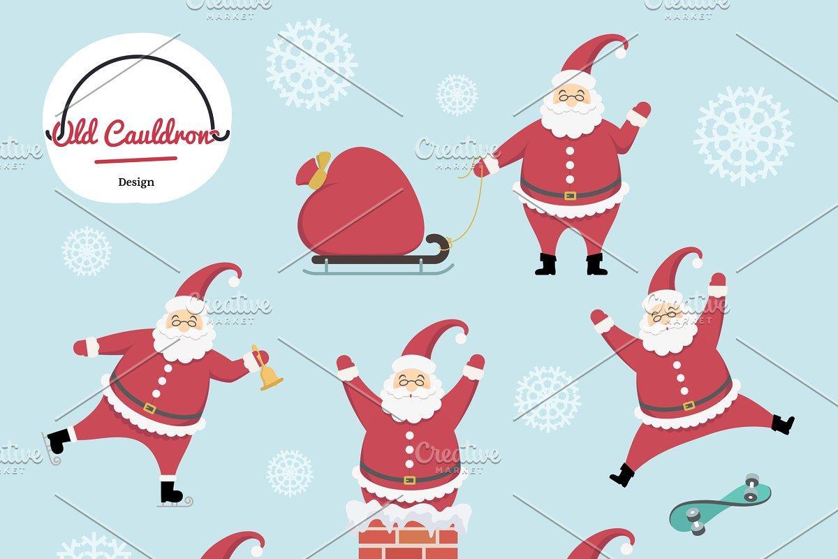 Santa graphics cl . Market clipart vector
