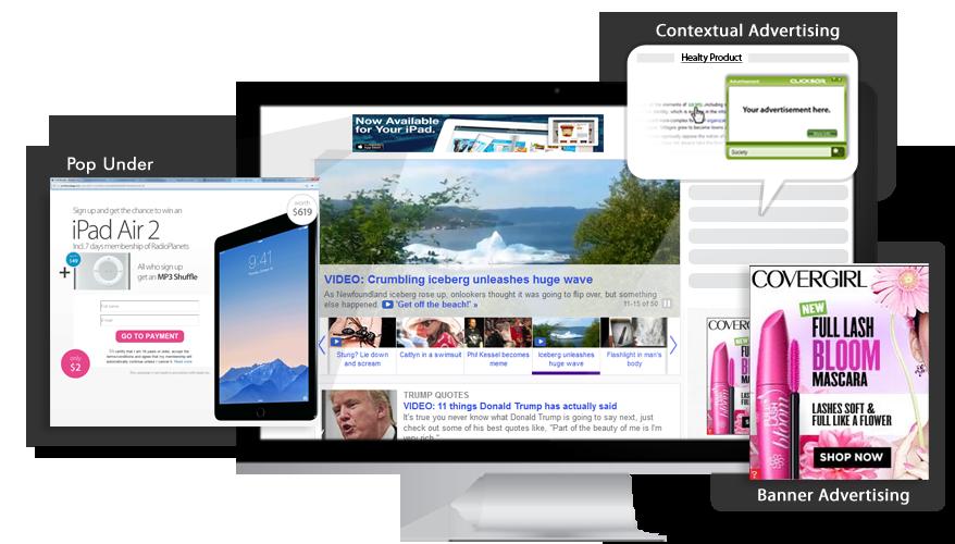 Contextual advertising behavioral. Marketing clipart advertiser