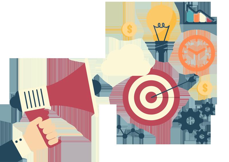 Hosting website design company. Marketing clipart agency