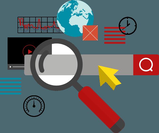 Targeted thru various digital. Marketing clipart audience target