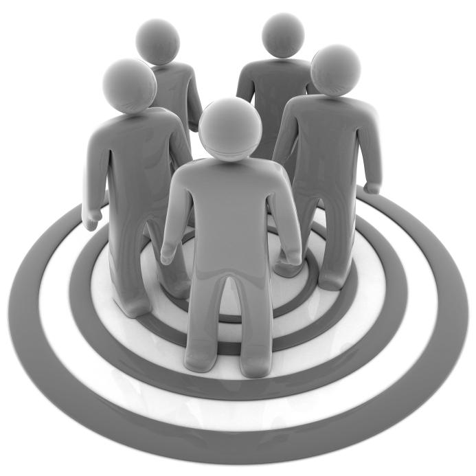Market audience clip art. Marketing clipart customer target