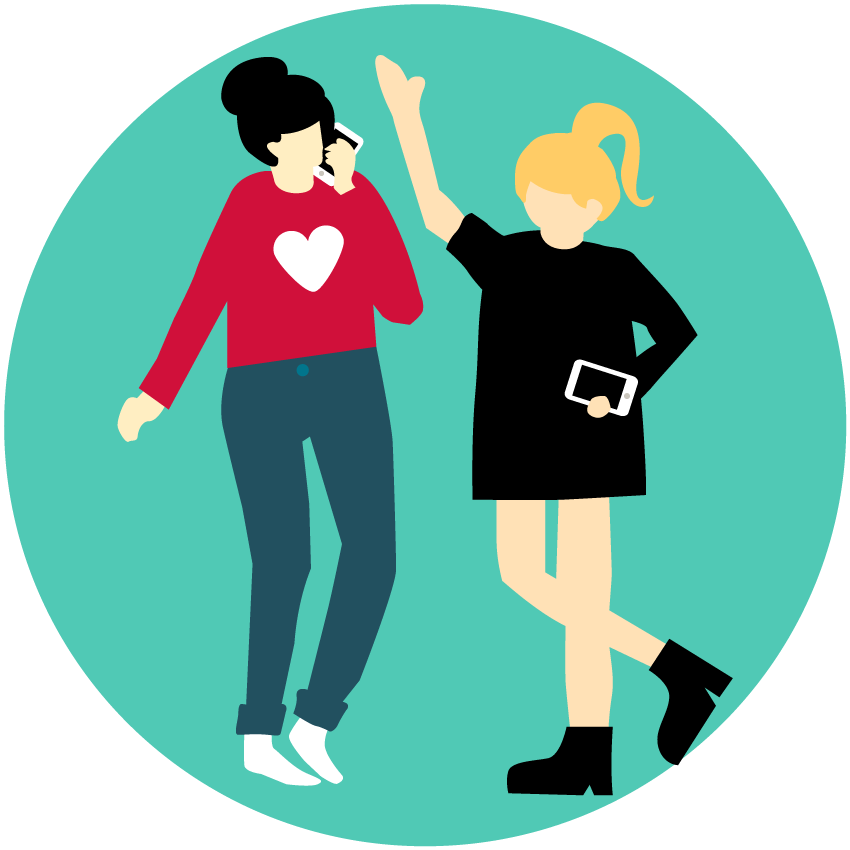 Who are gen z. Marketing clipart grown up