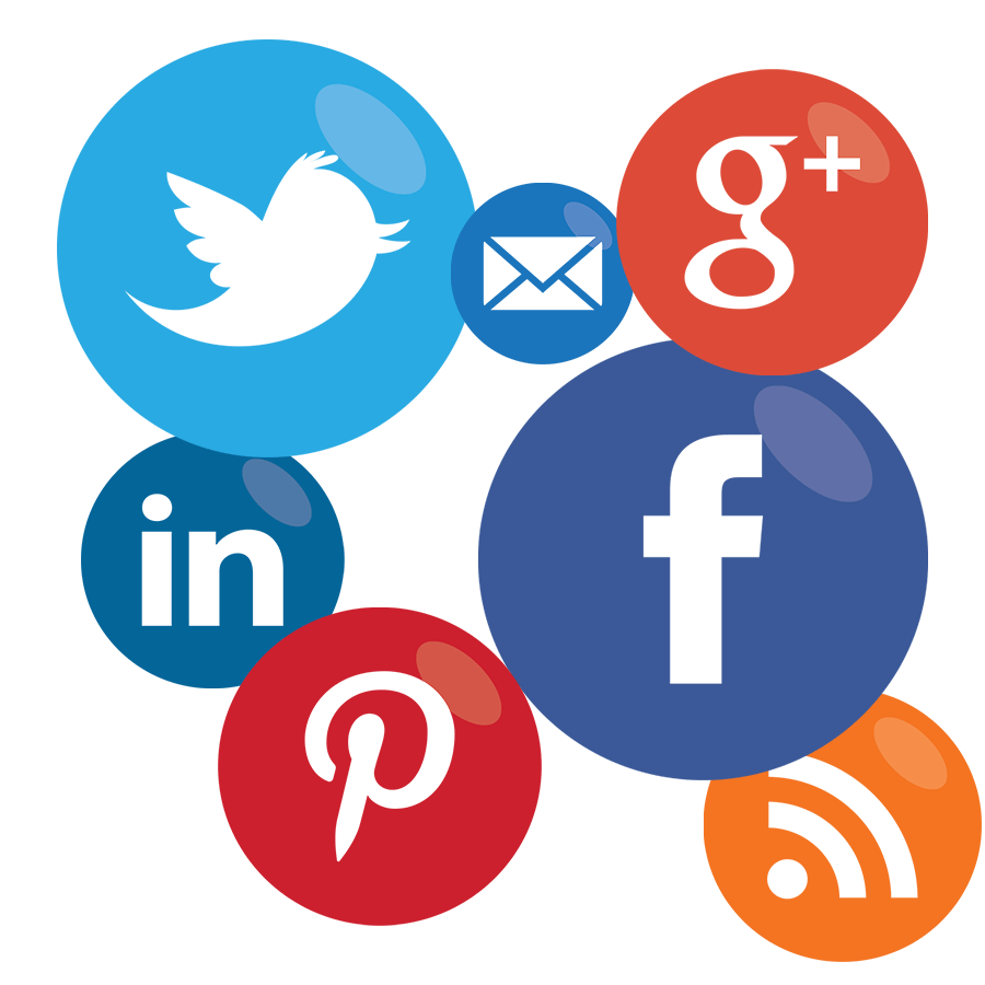 Marketing clipart media icon. Social icons green vine