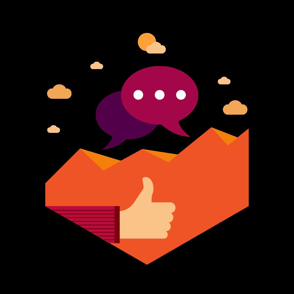 Content bonfire social media. Marketing clipart professional relationship