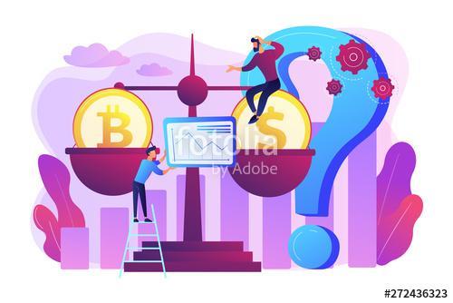 Virtual money exchange market. Marketing clipart profitability analysis