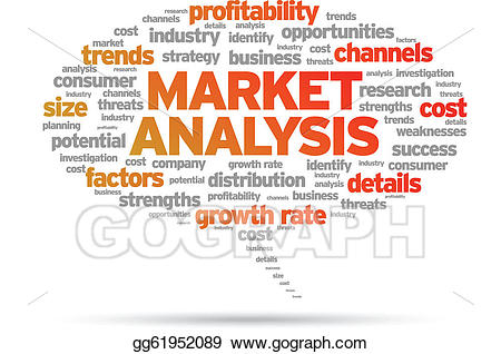 Vector art market eps. Marketing clipart profitability analysis
