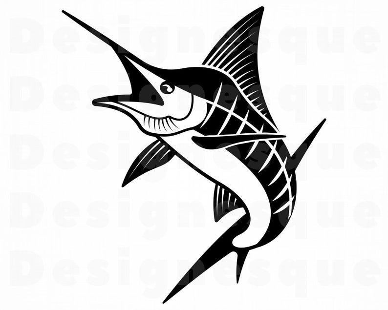 Svg fishing fish files. Marlin clipart