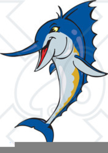 Marlin clipart. Blue for free images