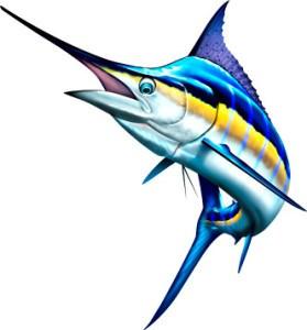 Marlin clipart. Blue spirit graphix