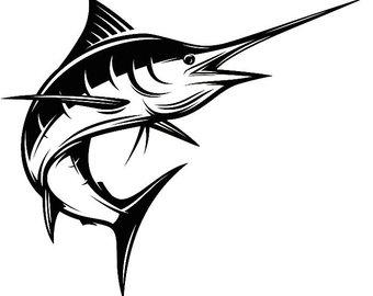 Marlin clipart. Etsy fishing deep sea