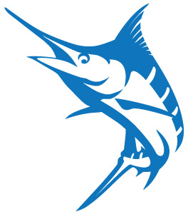 Blue vinyl decalspirit graphix. Marlin clipart