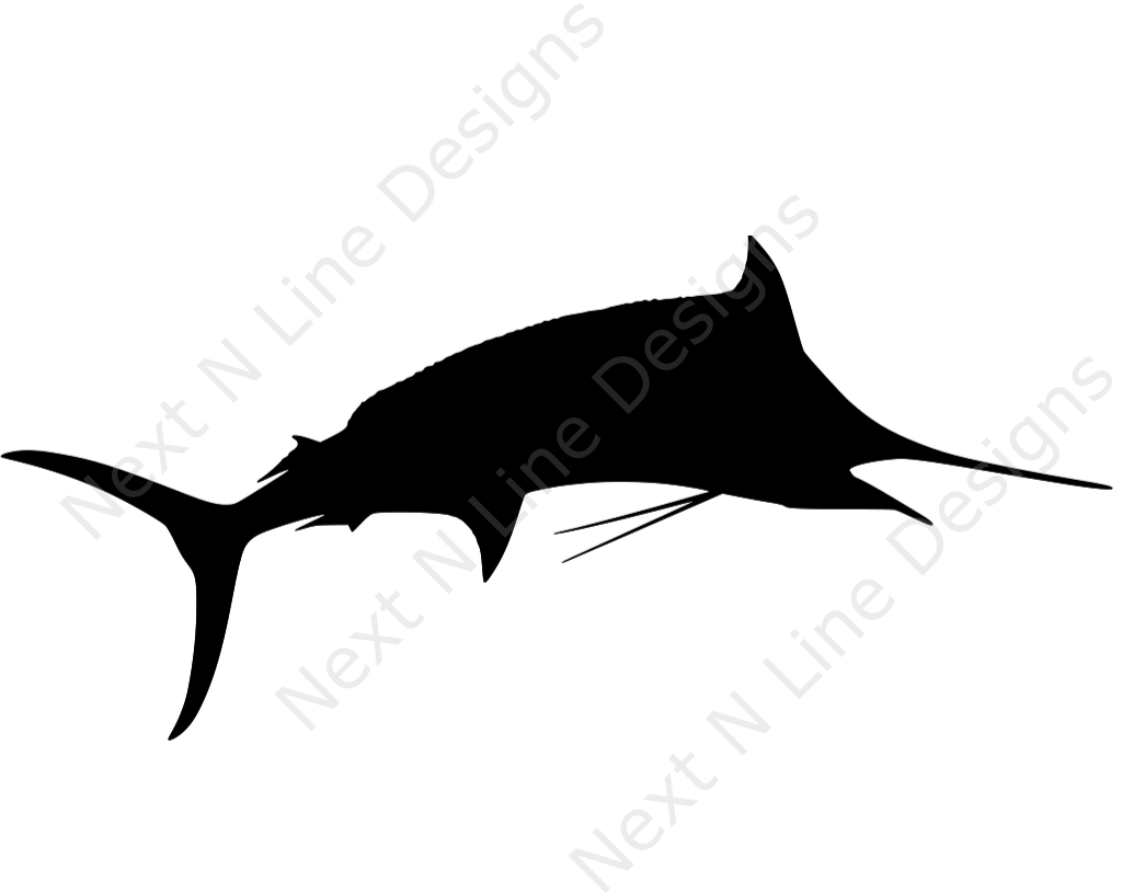 Marlin clipart offshore fishing. Silhouette decal silly pinterest