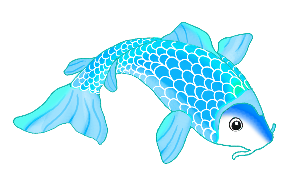 Blue drawing at getdrawings. Tuna clipart fish gill